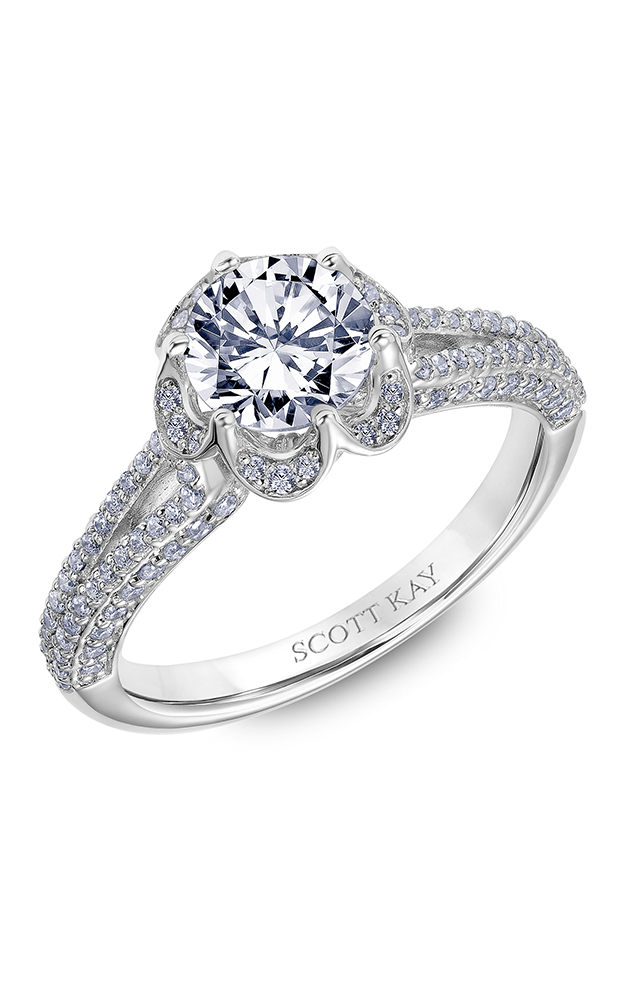 Scott Kay Heaven's Gates - 18k white gold 0.50ctw Diamond Engagement Ring, 31-SK6020ERP-E product image
