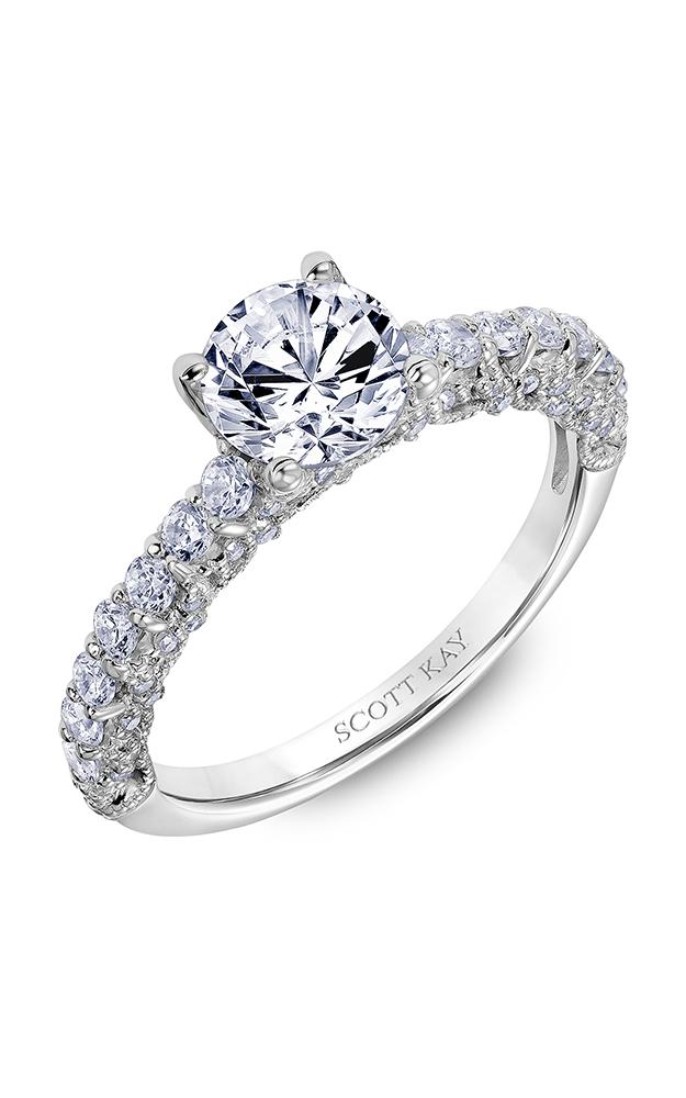 Scott Kay Heaven's Gates - 18k white gold 0.75ctw Diamond Engagement Ring, 31-SK6019ERP-E product image
