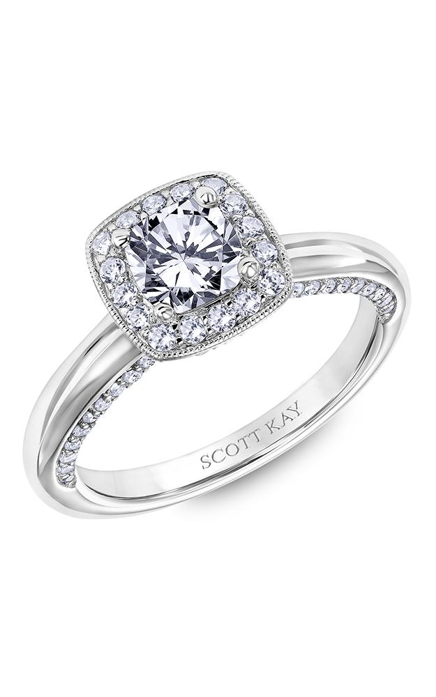 Scott Kay Guardian - 14k white gold 0.65ctw Diamond Engagement Ring, 31-SK6007EUP-E product image