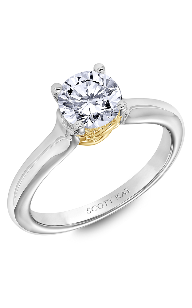 Scott Kay Guardian - 14k white gold, 14k yellow gold  Engagement Ring, 31-SK6011ERP-E product image