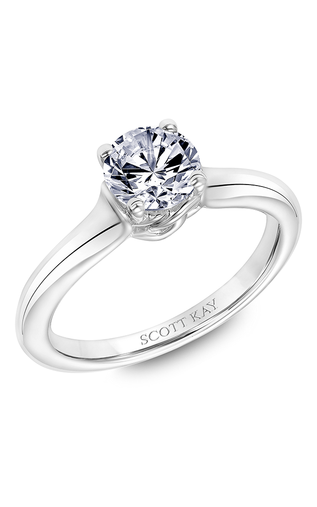 Scott Kay Guardian - 14k white gold  Engagement Ring, 31-SK6010ERP-E product image