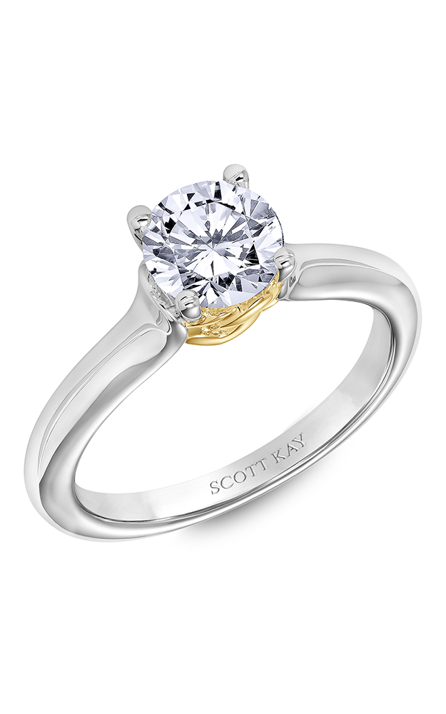 Scott Kay Guardian - 14k white gold 0.25ctw Diamond Engagement Ring, 31-SK6008DRP-E product image
