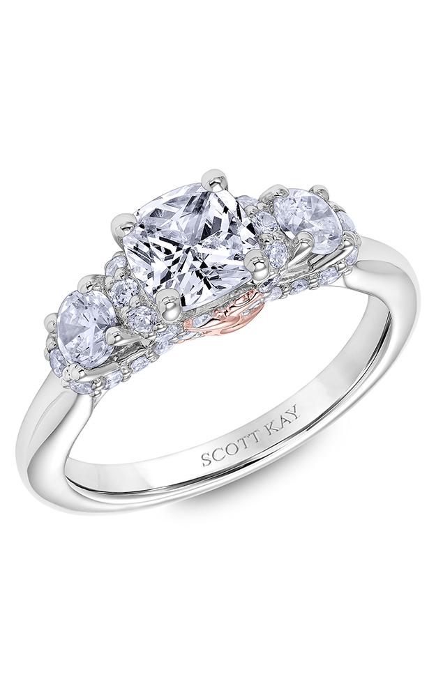 Scott Kay Guardian - 14k white gold 0.75ctw Diamond Engagement Ring, 31-SK6009FUP-E product image