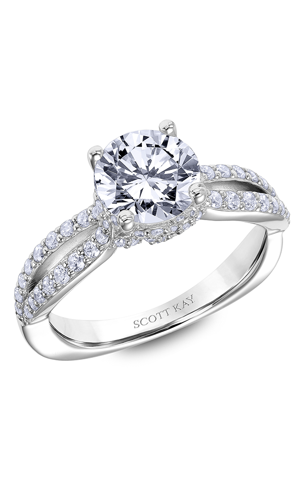 Scott Kay Guardian - 14k white gold 0.50ctw Diamond Engagement Ring, 31-SK6012GRP-E product image