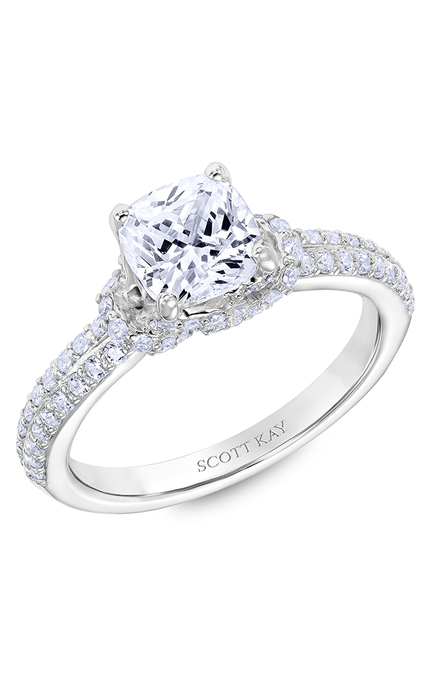 Scott Kay Guardian - 14k white gold 0.50ctw Diamond Engagement Ring, 31-SK6014GUP-E product image