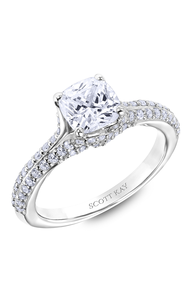 Scott Kay Guardian - 14k white gold 0.50ctw Diamond Engagement Ring, 31-SK6015GUP-E product image