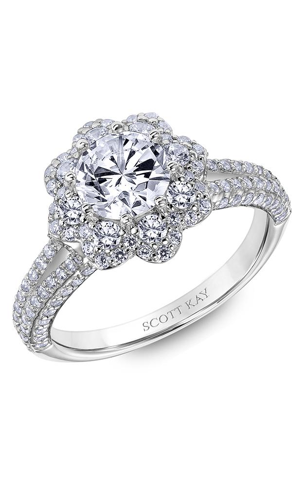 Scott Kay Heaven's Gates - 14k white gold 1.10ctw Diamond Engagement Ring, 31-SK6021ERP-E product image