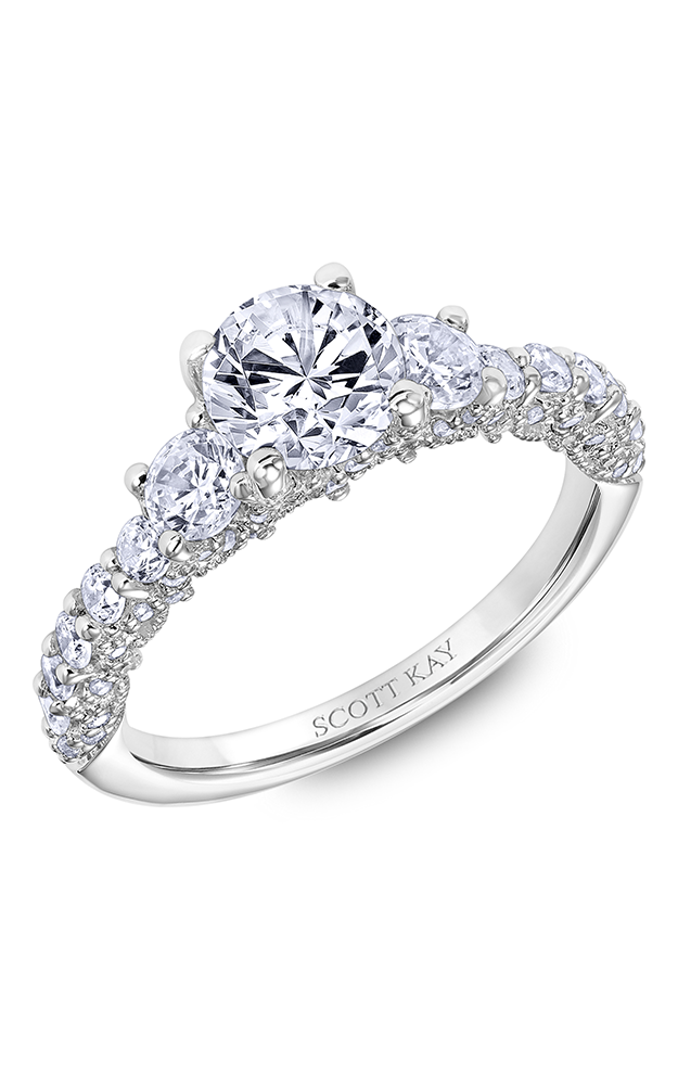 Scott Kay Heaven's Gates - 14k white gold 1.07ctw Diamond Engagement Ring, 31-SK6018ERP-E product image