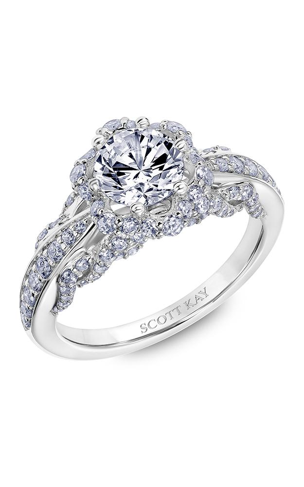Scott Kay Luminaire - 18k white gold 0.86ctw Diamond Engagement Ring, 31-SK6024ERP-E product image