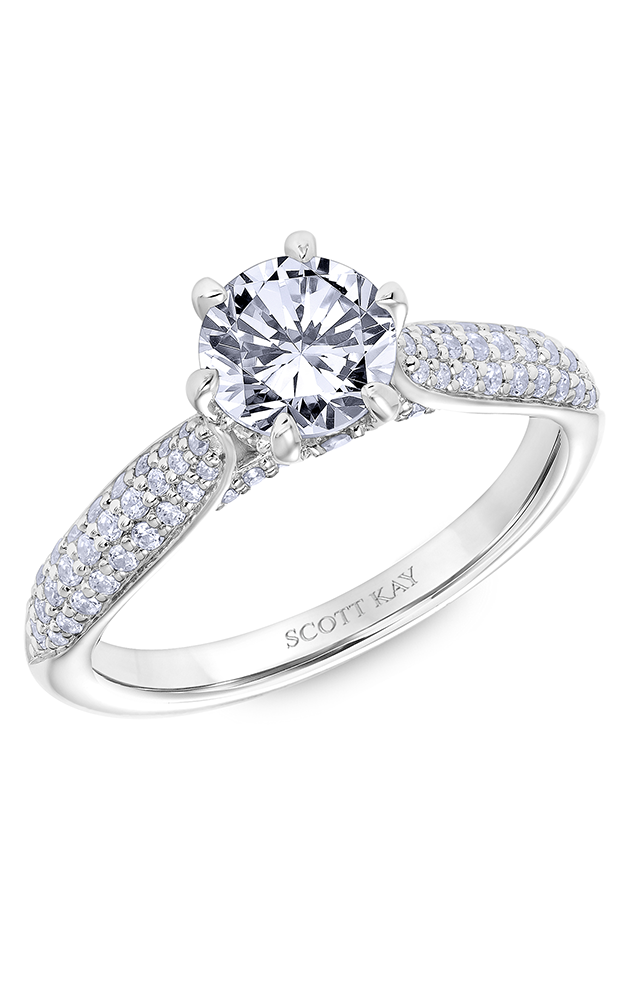 Scott Kay Luminaire - 18k white gold 0.50ctw Diamond Engagement Ring, 31-SK6031ERP-E product image