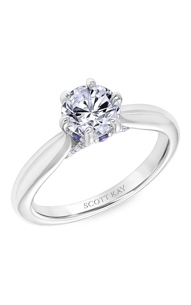 Scott Kay Luminaire - 14k white gold 0.25ctw Diamond Engagement Ring, 31-SK6030ERP-E product image