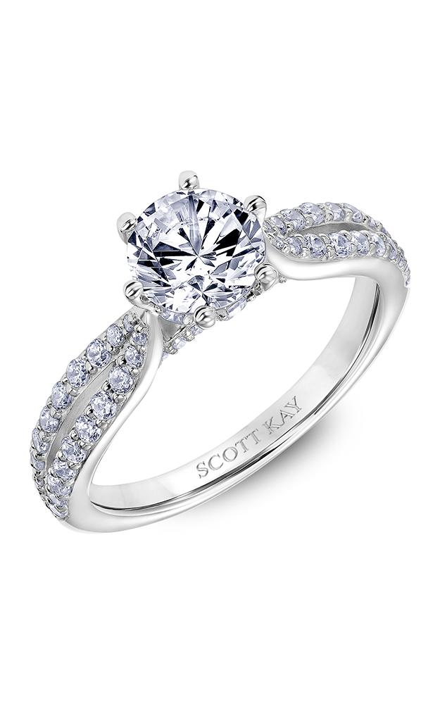Scott Kay Luminaire - 14k white gold 0.65ctw Diamond Engagement Ring, 31-SK6032ERP-E product image