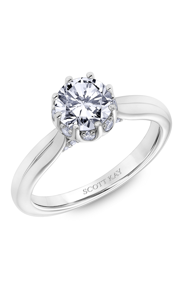Scott Kay Luminaire - 14k white gold 0.25ctw Diamond Engagement Ring, 31-SK6033ERP-E product image