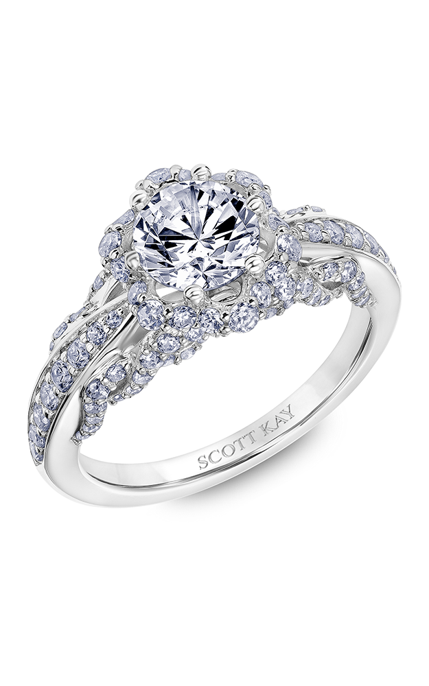 Scott Kay Luminaire - 14k white gold 0.86ctw Diamond Engagement Ring, 31-SK6024ERP-E product image