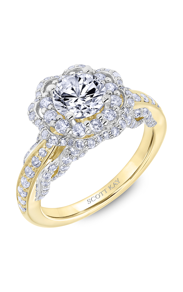 Scott Kay Luminaire - 14k white gold 1.20ctw Diamond Engagement Ring, 31-SK6025ERP-E product image