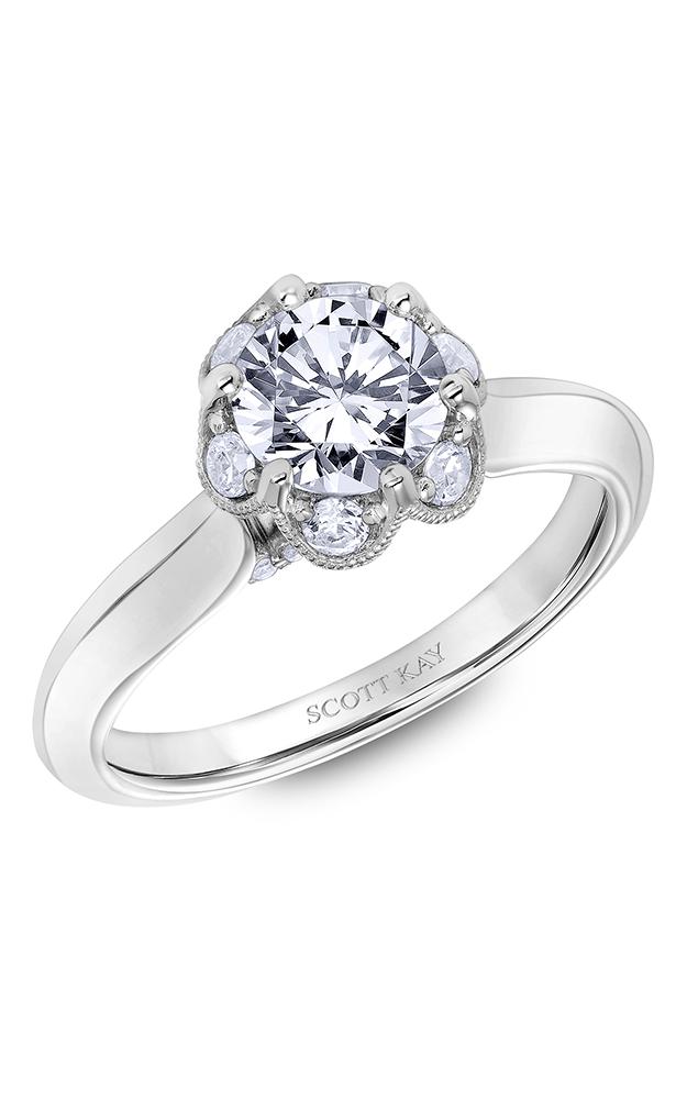 Scott Kay Luminaire - 14k white gold 0.42ctw Diamond Engagement Ring, 31-SK6027ERP-E product image