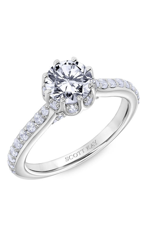 Scott Kay Luminaire - 14k white gold 0.65ctw Diamond Engagement Ring, 31-SK6039ERP-E product image