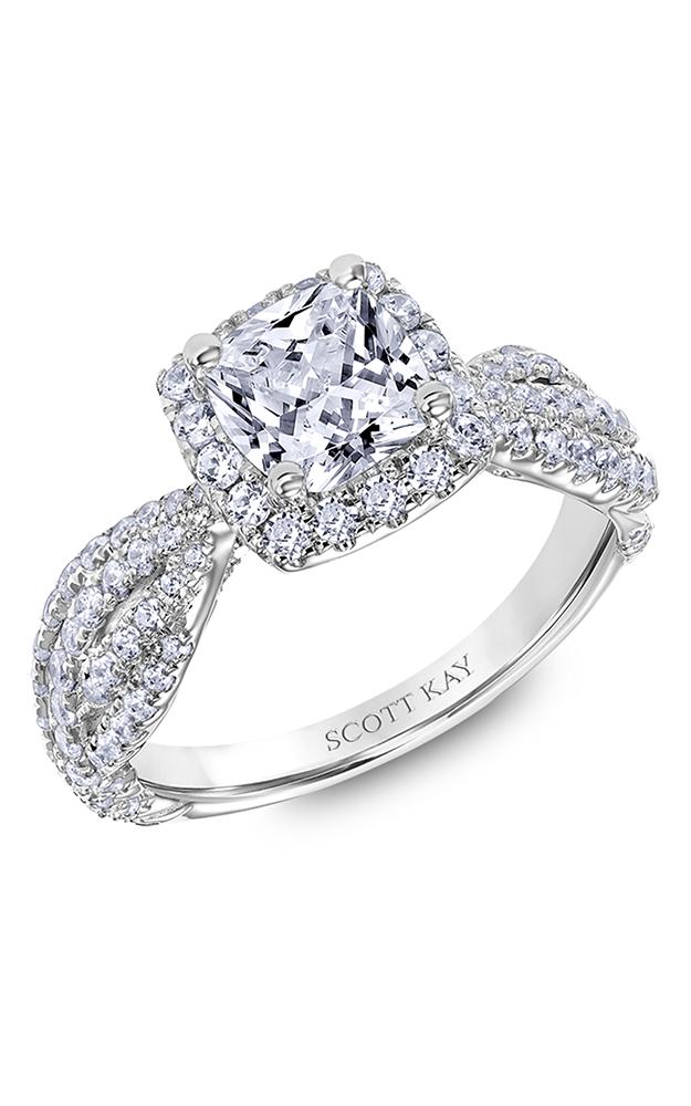 Scott Kay Namaste - 18k white gold 1.05ctw Diamond Engagement Ring, 31-SK6002GUP-E product image