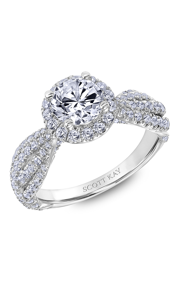 Scott Kay Namaste - 18k white gold 1.05ctw Diamond Engagement Ring, 31-SK6003ERP-E product image