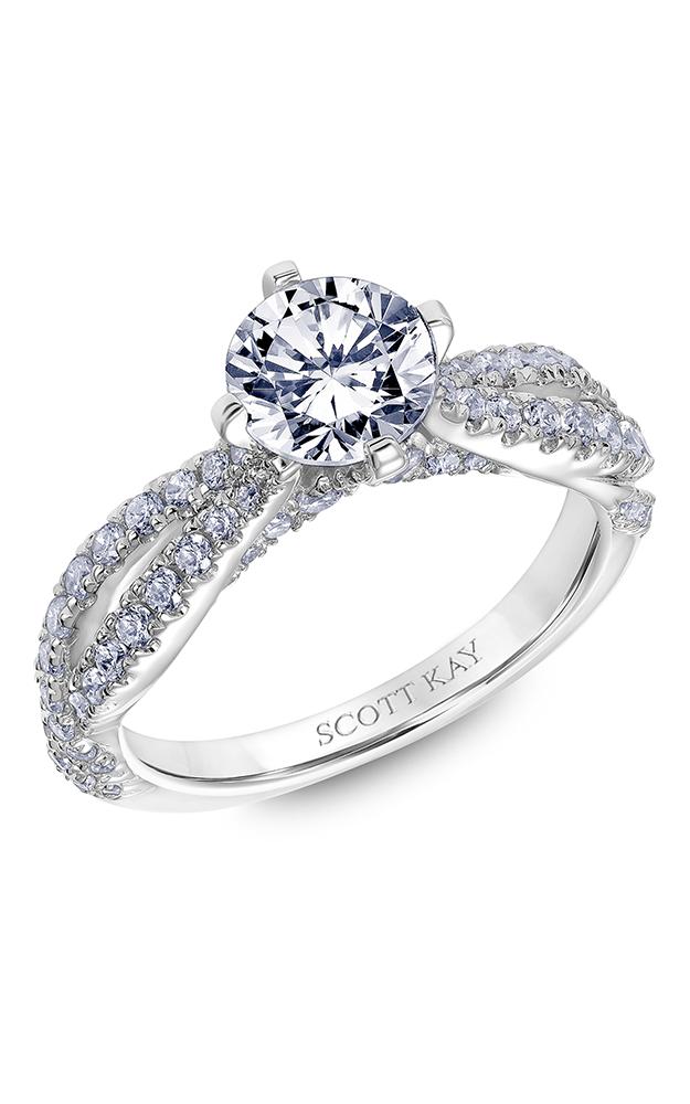 Scott Kay Namaste - 14k white gold 0.62ctw Diamond Engagement Ring, 31-SK6006ERP-E product image
