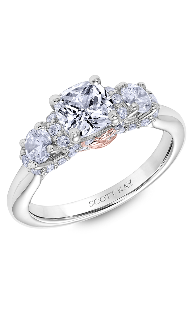 Scott Kay Guardian - 18k rose gold 0.75ctw Diamond Engagement Ring, 31-SK6009FUP-E product image
