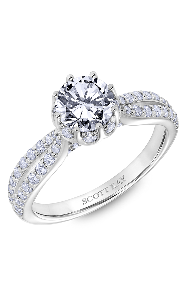 Scott Kay Luminaire - 14k rose gold 0.65ctw Diamond Engagement Ring, 31-SK6038ERP-E product image