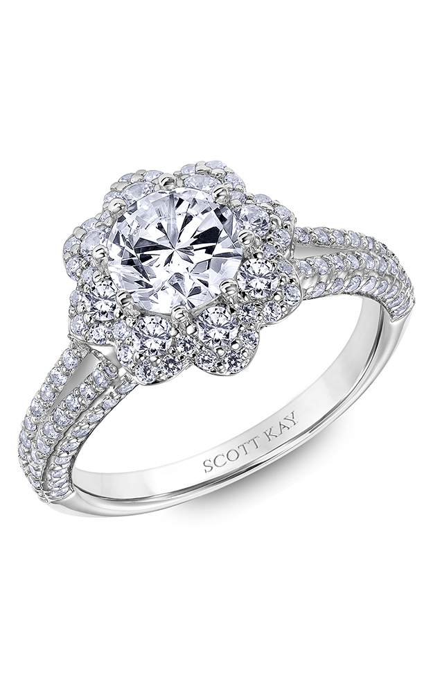 Scott Kay Heaven's Gates - 18k rose gold 1.10ctw Diamond Engagement Ring, 31-SK6021ERP-E product image