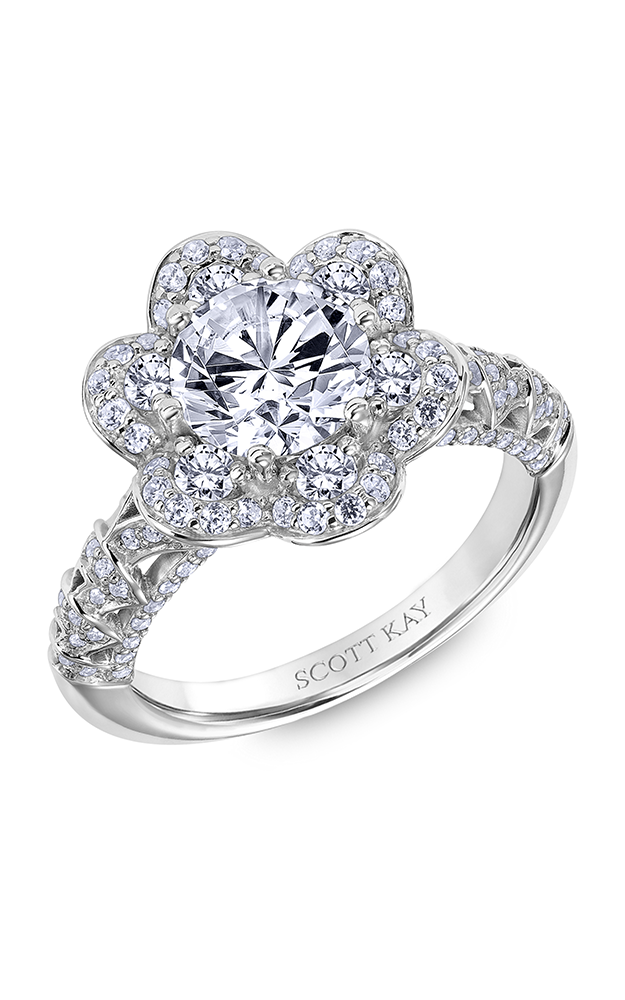 Scott Kay Heaven's Gates - 14k rose gold 1.25ctw Diamond Engagement Ring, 31-SK6022GRP-E product image
