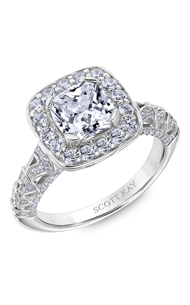 Scott Kay Heaven's Gates - 14k rose gold 1.07ctw Diamond Engagement Ring, 31-SK6023HUP-E product image