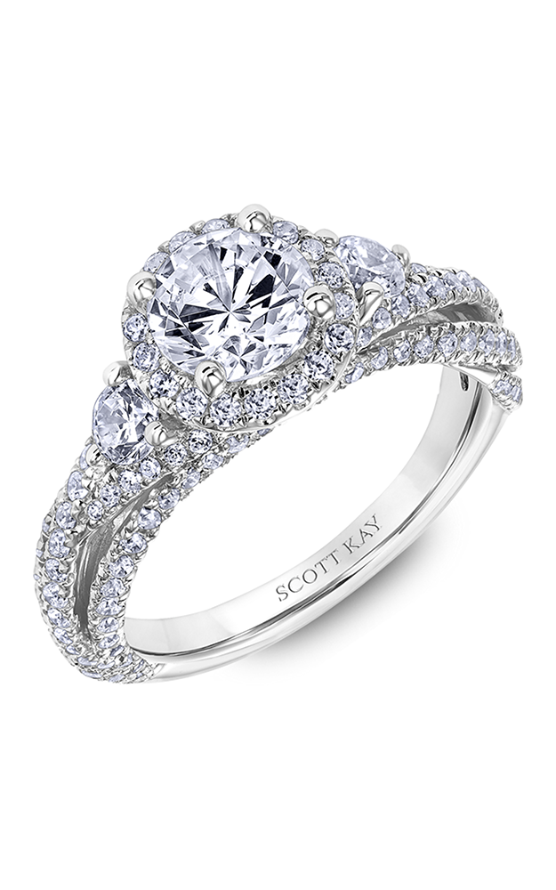 Scott Kay Namaste - 14k rose gold 1.10ctw Diamond Engagement Ring, 31-SK6000ERP-E product image