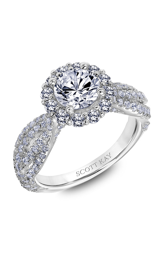 Scott Kay Namaste - 18k rose gold 1.25ctw Diamond Engagement Ring, 31-SK6001ERP-E product image