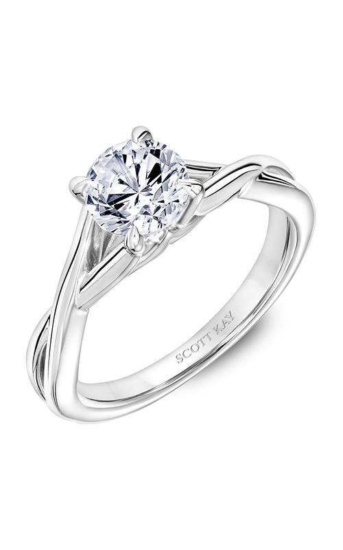Scott Kay Namaste - 18k white gold  Engagement Ring, 31-SK5635ERW-E.02 product image