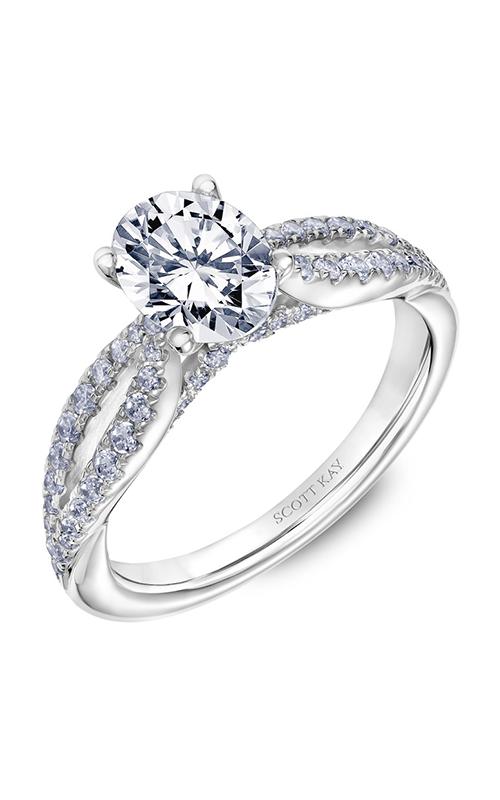 Scott Kay Namaste - 14k white gold 0.44ctw Diamond Engagement Ring, 31-SK5630EVW-E.00 product image