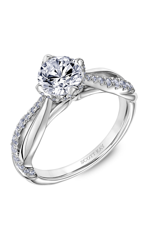 Scott Kay Namaste - Platinum 0.34ctw Diamond Engagement Ring, 31-SK5631ERP-E.00 product image