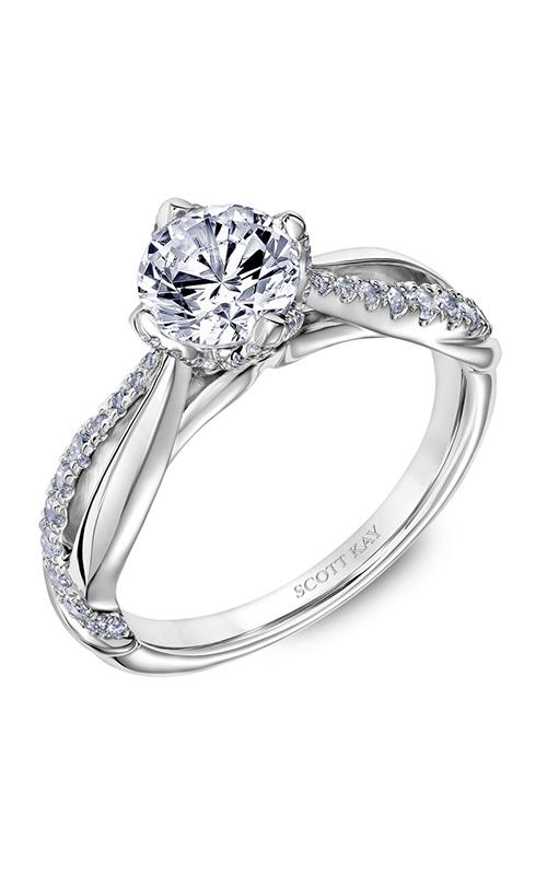 Scott Kay Namaste - 14k white gold 0.34ctw Diamond Engagement Ring, 31-SK5631ERW-E.00 product image