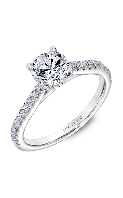 Scott Kay Namaste - 14k white gold 0.29ctw Diamond Engagement Ring, 31-SK5633ERW-E.00 product image