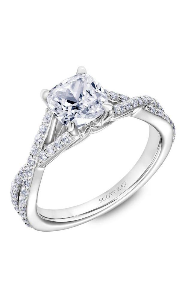 Scott Kay Namaste - 14k white gold 0.36ctw Diamond Engagement Ring, 31-SK5634GUW-E.00 product image