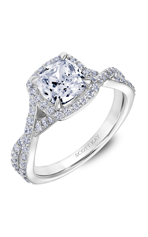 Scott Kay Namaste - 14k white gold 0.51ctw Diamond Engagement Ring, 31-SK5636GUW-E.00 product image