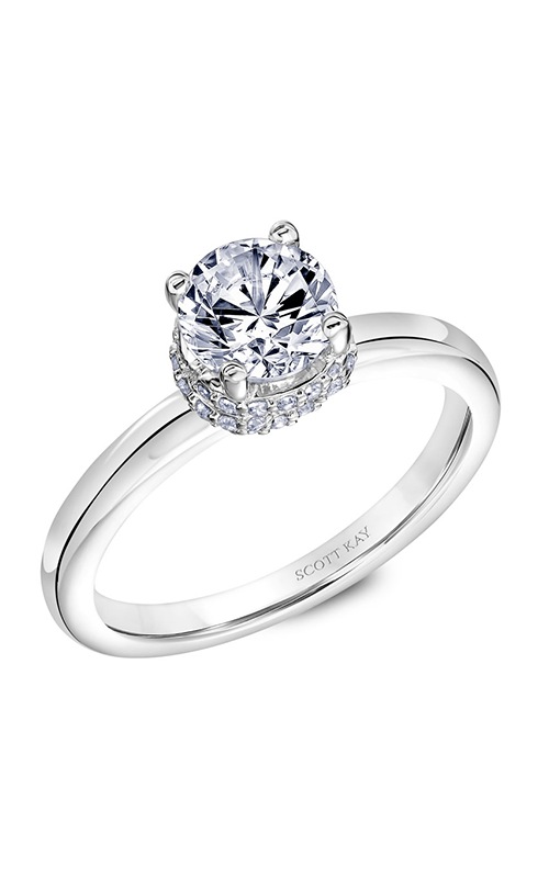 Scott Kay Embrace - 18k white gold 0.21ctw Diamond Engagement Ring, 31-SK5638ERW-E.02 product image