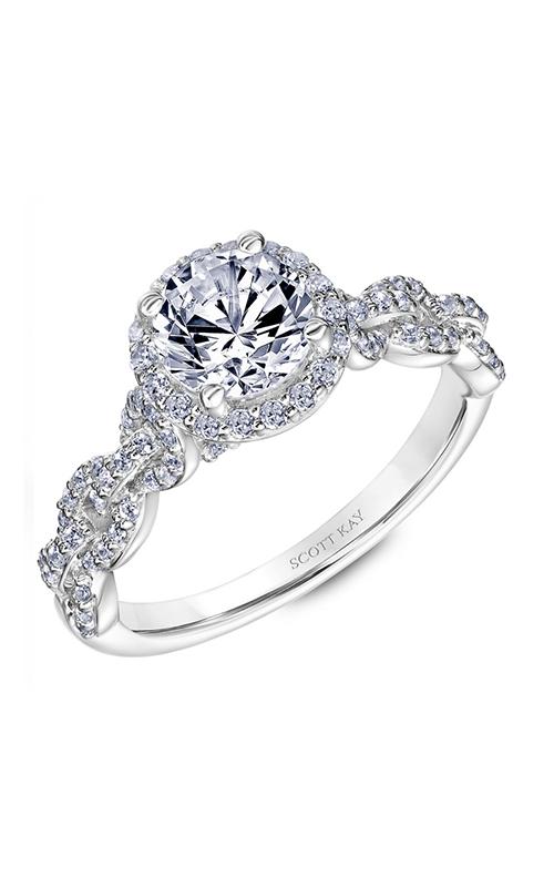 Scott Kay Embrace - 18k white gold 0.53ctw Diamond Engagement Ring, 31-SK5640ERW-E.02 product image