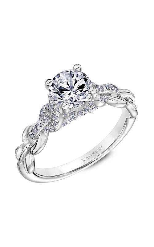 Scott Kay Embrace - 14k white gold 0.24ctw Diamond Engagement Ring, 31-SK5643ERW-E.00 product image