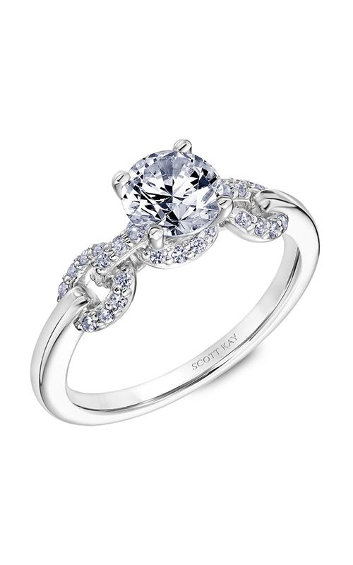 Scott Kay Embrace - 14k white gold 0.19ctw Diamond Engagement Ring, 31-SK5644ERW-E.00 product image