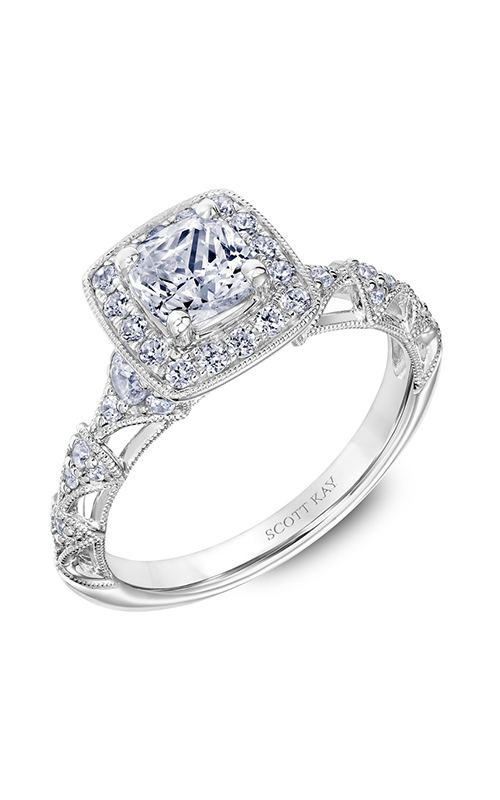 Scott Kay Heaven's Gates - 14k rose gold 0.58ctw Diamond Engagement Ring, 31-SK5645EUW-E.00 product image
