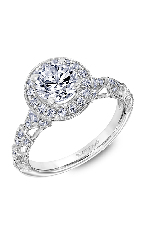 Scott Kay Heaven's Gates - 14k white gold 0.61ctw Diamond Engagement Ring, 31-SK5646ERW-E.00 product image