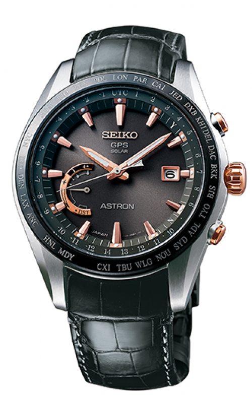 Seiko Astron GPS Solar World Time Watch SSE095