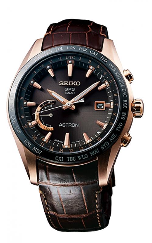 Seiko Astron GPS Solar World Time Watch SSE096