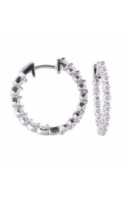S Kashi & Sons Hoop Earrings E7637WG product image