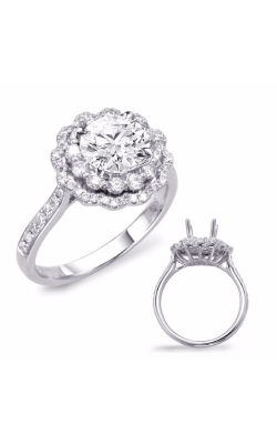 S. Kashi and Sons Halo Engagement Ring EN7639-1WG product image