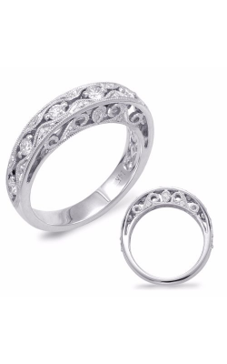 S. Kashi and Sons Prong Set Wedding Band EN7623-BWG product image