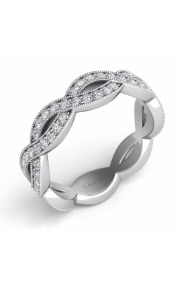 S. Kashi and Sons Criss Cross Wedding Band EN7478-BWG product image
